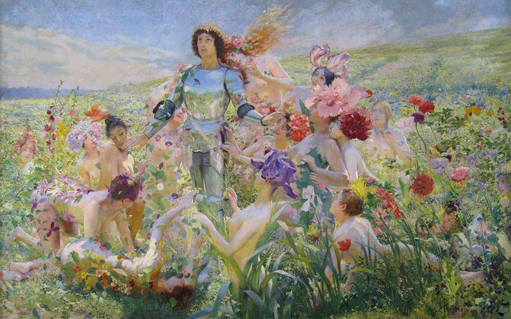 Бесплатная доставка классический ню сексуальная воме цветочные мужчины картина маслом холстины, печать на холсте стены украшения искусства фотографии