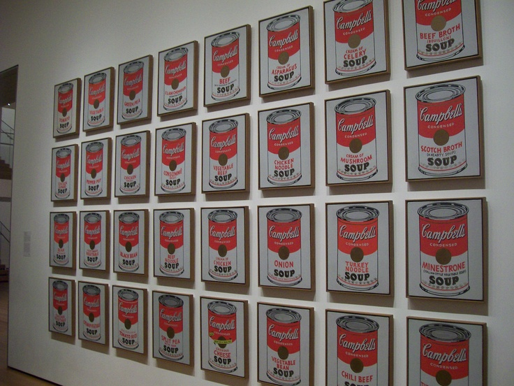 Soup anyone?   Warhol at the MoMA in New York