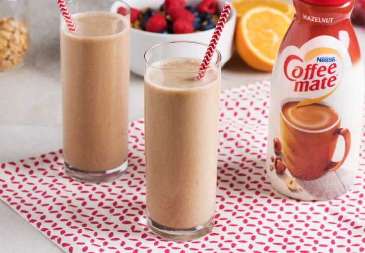 """Do your """"coffee-prep"""" the night before and just blend and go in the morning. This nutty blended iced coffee is a tasty addition to your morning and a great afternoon pick-me-up!"""