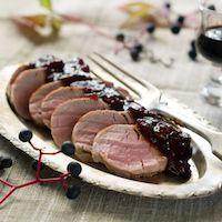 Grilled Pork Tenderloin in a Cherry-Dijon Marinade
