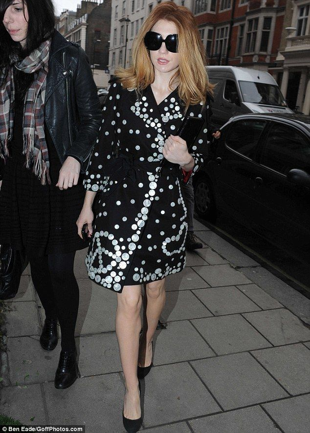 Burning bright: Flame-haired Nicola Roberts dresses like a pearly queen as she ups the fashion stakes at Mulberry | Mail Online