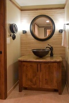 Small Rustic Modern Bathroom