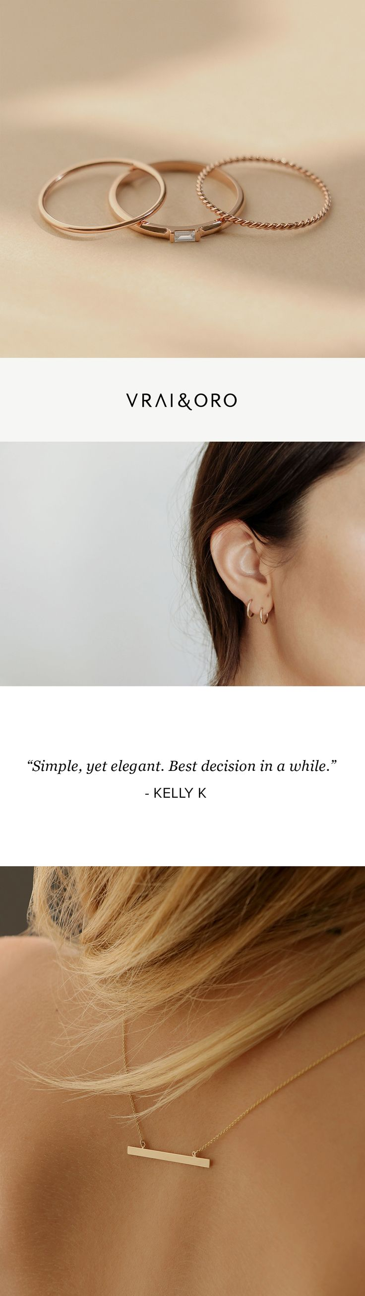 Simple design with a sustainable outlook. See the jewelry line that has Vogue, Forbes and Fast Company talking.