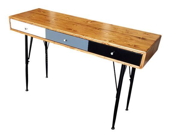 Mid Century Desk with Adjustable Legs by OrWaDesigns on Etsy