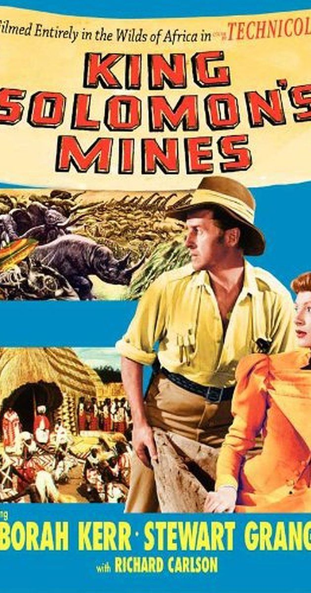 Directed by Compton Bennett, Andrew Marton.  With Deborah Kerr, Stewart Granger, Richard Carlson, Hugo Haas. Adventurer Allan Quartermain leads an expedition into uncharted African territory in an attempt to locate an explorer who went missing during his search for the fabled diamond mines of King Solomon.