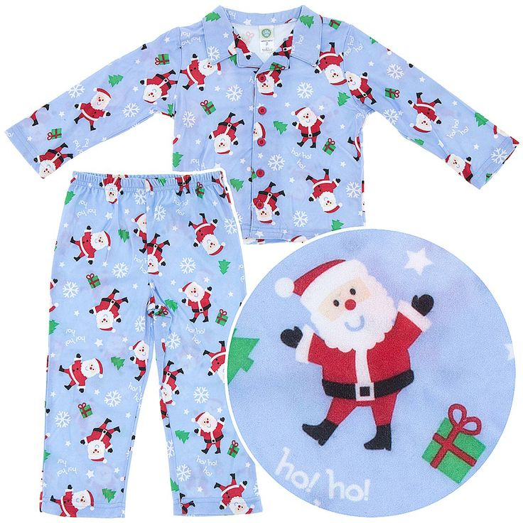 Little Me Santa Pajamas for Toddler Boys - These Christmas pajamas for boys are some of the most popular.  Featuring a fun Santa and presents, he'll love his new Christmas Pajamas for boys this holiday season.
