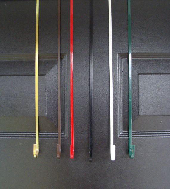 Metal Door Hook- Wreath Hanger- Floral Hanger- Over The Door Hanger- Wreath Hooks- 6 Colors Made in the USA & Best 25+ Over the door hanger ideas on Pinterest | Pot hanger ... pezcame.com