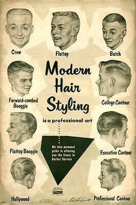 Details zu den Herrenfrisuren der 1950er Jahre: Kunstdruck: Frisuren für Herren …   – vintage hairstyles