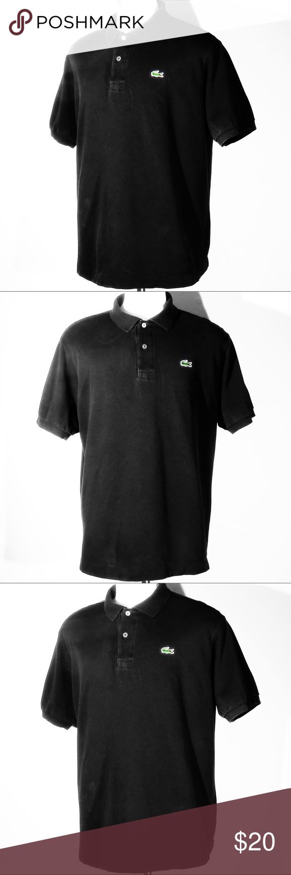 Lacoste Men's Polo Shirt Black Size 7 (XL) Up for sale is my Lacoste Polo Shirt in a black color way; men's size 7 (XL)  It is in a 8/10 condition rating $85 retails price + NYC tax and today I'm selling this shirt for $20  Please message me for more information and/or photos! Lacoste Shirts Polos