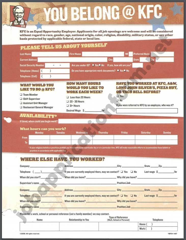 Pin On Job Application Form Pdf
