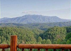 Beautiful Smoky Mountain sky from the deck of the Hummingbird cabin in Gatlinburg