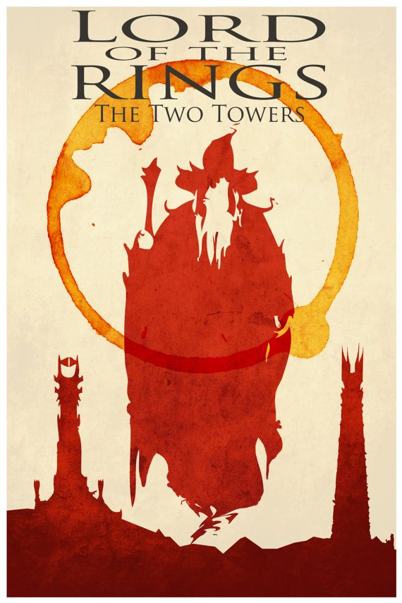 Lord of the Rings movie poster minimalist art movie by Harshness