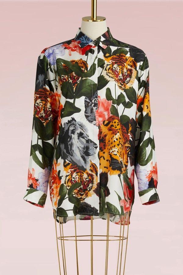 Paul & Joe Foulard flower tiger Shirt