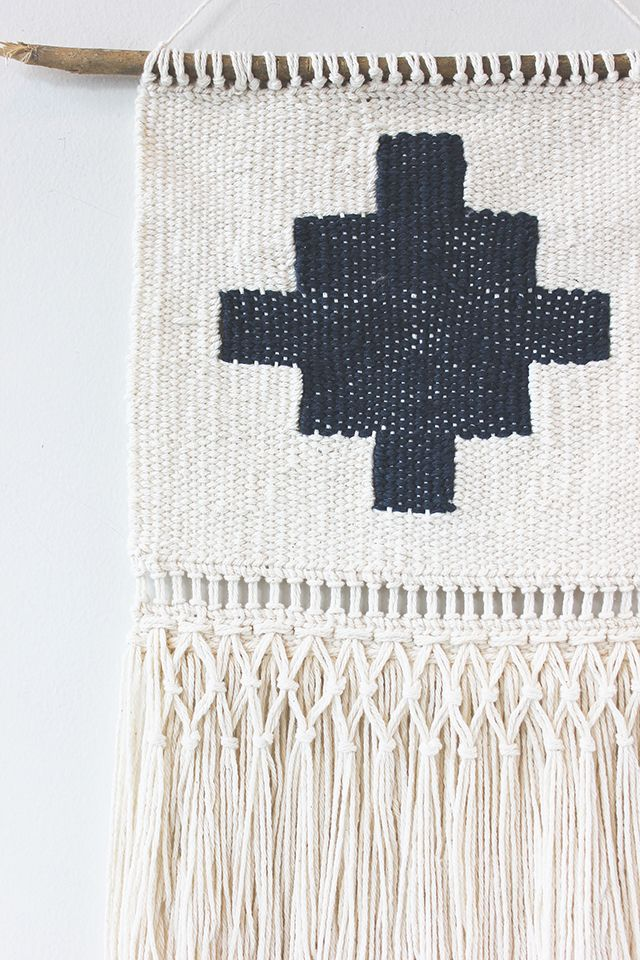 hello hydrangea: Southwestern Embroidery-Inspired Wall Hanging