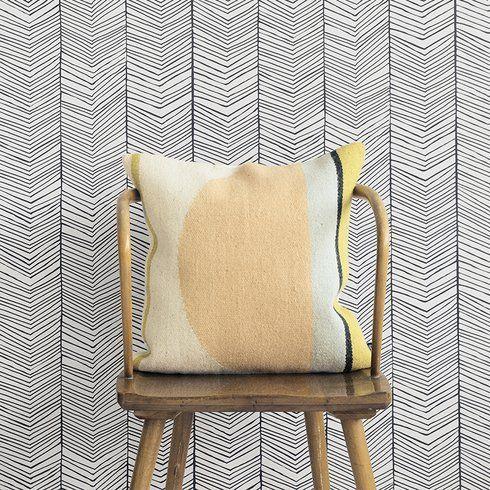 """Malia 32.97' x 20.87"""" Geometric Wallpaper"""