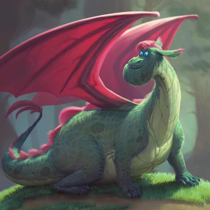"""WIP, I saw the Pete's dragon trailer and I wanted to design my own version, while being faithful to the ""realifying"" they seem to be going for. I figured…"""