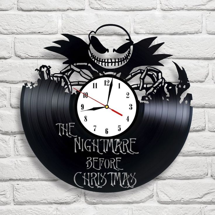 The Nightmare Before Christmas - 2 vinyl record clock white ], in [Home, Furniture & DIY, Clocks, Wall Clocks | eBay