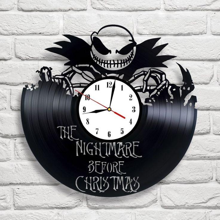 The Nightmare Before Christmas - 2 vinyl record clock white ], in [Home, Furniture & DIY, Clocks, Wall Clocks | eBay