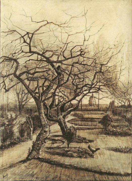 Vincent van Gogh - Winter Garden
