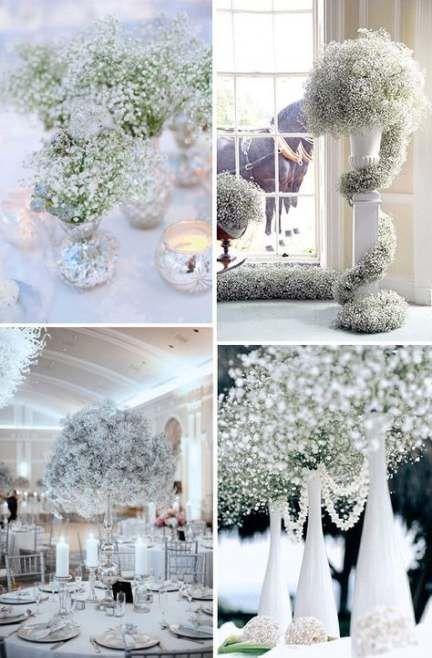 Hochzeit Winter Wonderland Babies Breath 55+ Beste Ideen   – CREATIVE WEDDING IDEAS