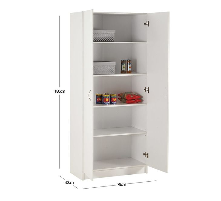 Reed Wide 2 Door Pantry Furniture Today Fantastic Furniture Tall Cabinet Storage