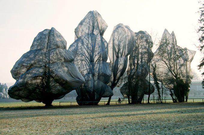 wrapped trees christo
