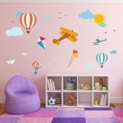 Kit Cameretta Flying in the Sky Cielo Wall Sticker Adesivo da Muro Componibile