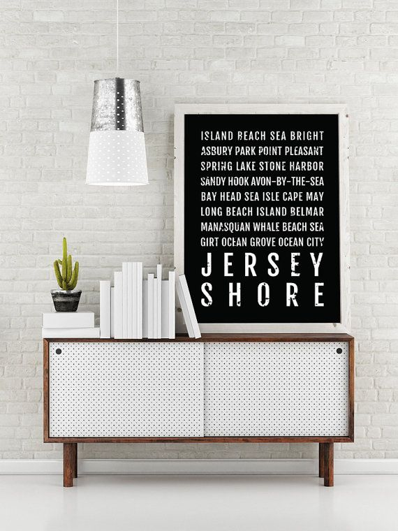 Jersey Shore Print New Jersey Shore Subway Sign Poster NJ