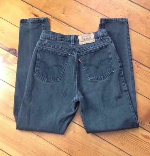 39.59$  Buy here - http://viysd.justgood.pw/vig/item.php?t=fx8sete26620 - Vintage Levis 912 Jeans Black Slim Fit Tapered Leg Size 11 Long Made in the USA