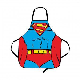 Grillschürze Superman Anzug