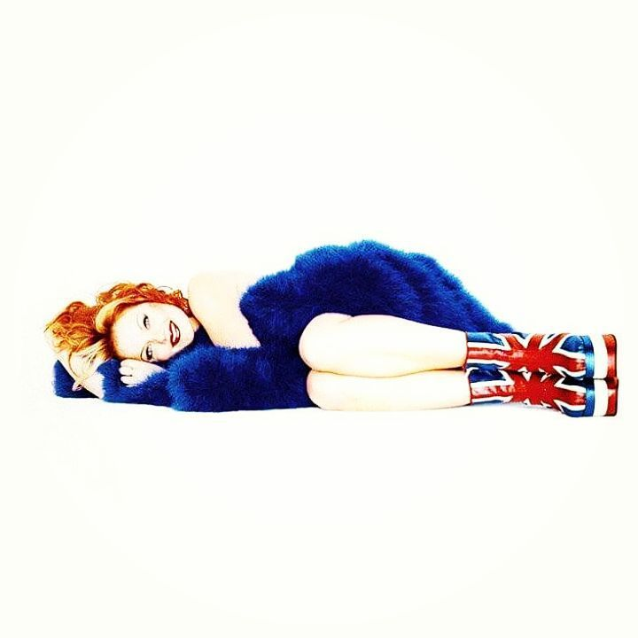 Geri Halliwell - SpiceWorld album shoot. Ginger Spice, always representing the Union Jack!  #GeriHalliwell #SpiceWorld #SpiceGirls #TheSpiceGirls #Ginger #GingerSpice #UnionJack