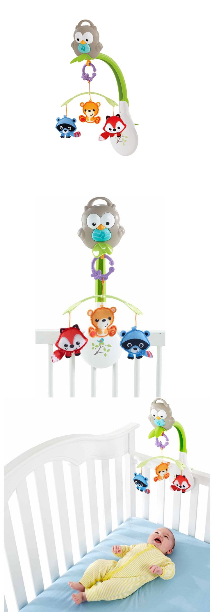 Crib Toys 100226: Fisher Price 3 In 1 Musical Mobile Motorized Crib Woodland Friends Carry Handle -> BUY IT NOW ONLY: $39.87 on eBay!