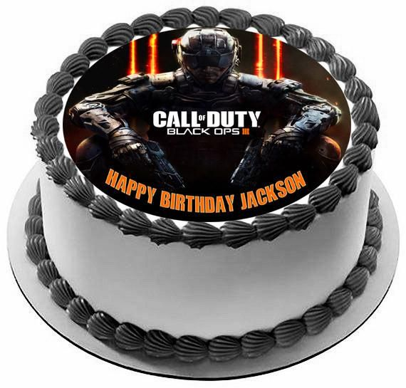 Call of Duty Ops 3 Edible Birthday Cake Topper OR Cupcake Topper, Decor - Edible Prints On Cake (Edible Cake &Cupcake Topper)