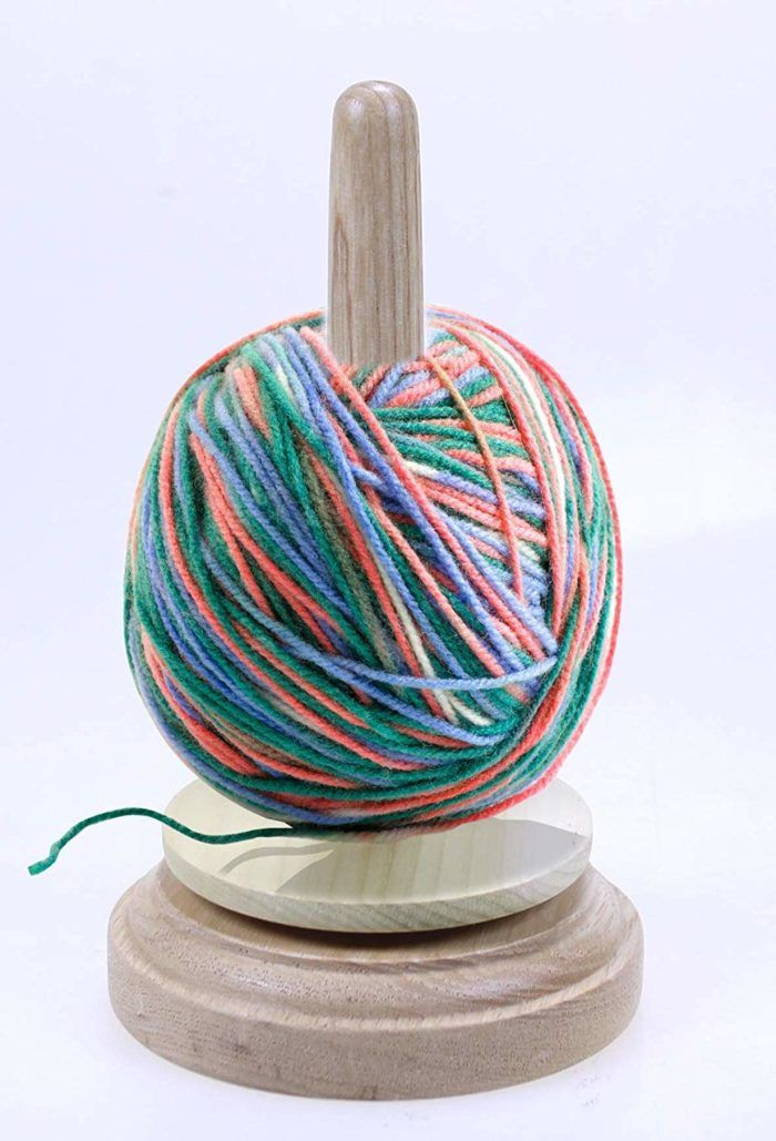 This Handy Little Yarn Holder Will Help Keep You Tangle Free While You Crochet Or Knit This Would Make A Great Gift For Yarn Holder Diy Yarn Holder Yarn Ball