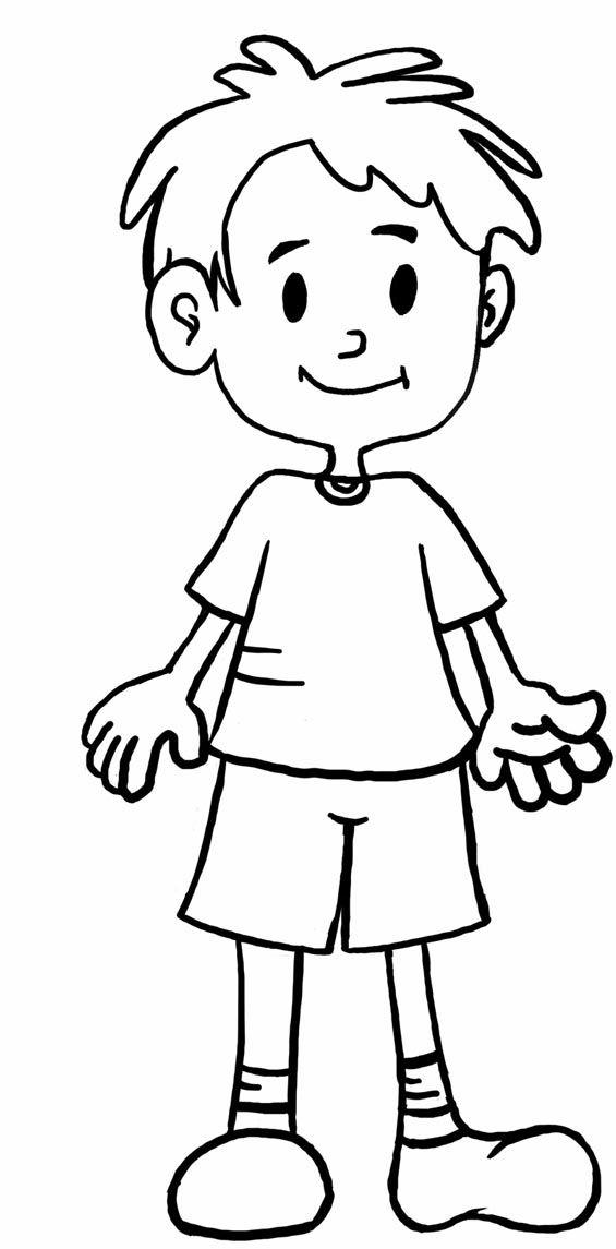 menino em desenho para colorir
