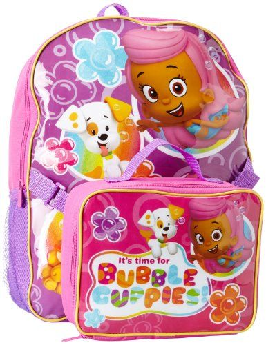 Nickelodeon Girls 2-6X Bubble Guppies Backpack with Lunch, Pink, One Size Nickelodeon http://www.amazon.com/dp/B00IMWKYOA/ref=cm_sw_r_pi_dp_olo3tb0ZX6FJBCGT
