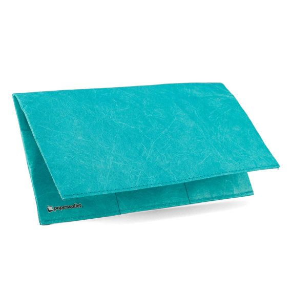 Paper-Thin Clutch Unisex for Men & Women - Mint Design - Made in Tyvek - Eco-friendly and 100% Recyclable