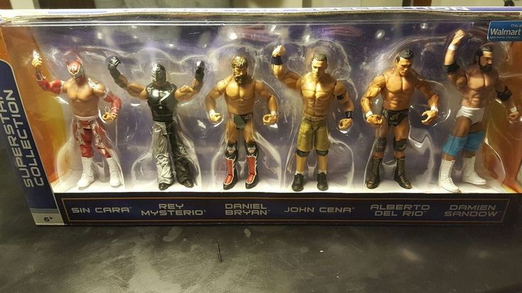 WWE Superstar Collection of 6 action figures. Set includes Sin Cara, Rey Mysterio, Daniel Bryan, John Cena, Alberto Del Rio, and Damien Sandow. Great gift for any collector. | eBay!