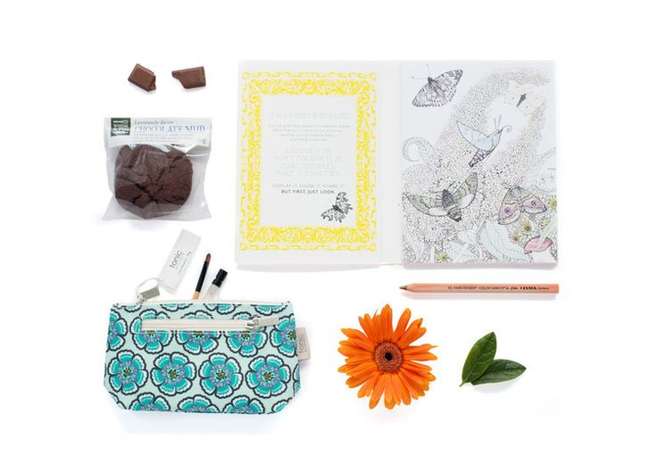 Colour Your World  Pictura Colouring Book -  Tonic Australia Cosmetic Bag  -Whisk & Pin Chocolate Mud Cookie 80G, packed with decadent Belgian chocolate chunks. Also included is a complementary Lyra  colour giant 4 in 1 colour pencil.