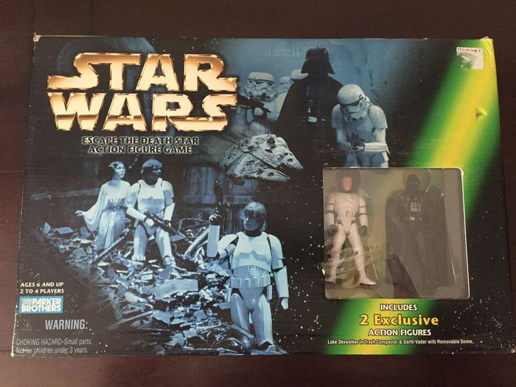 Star Wars Escape the Death Star Action Figure Game #ParkerBrothers