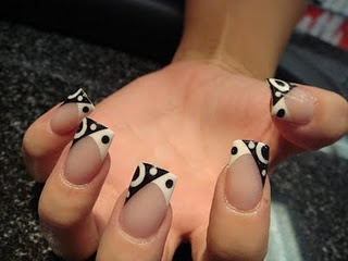 This is a pretty cool flip on French manicures to me.