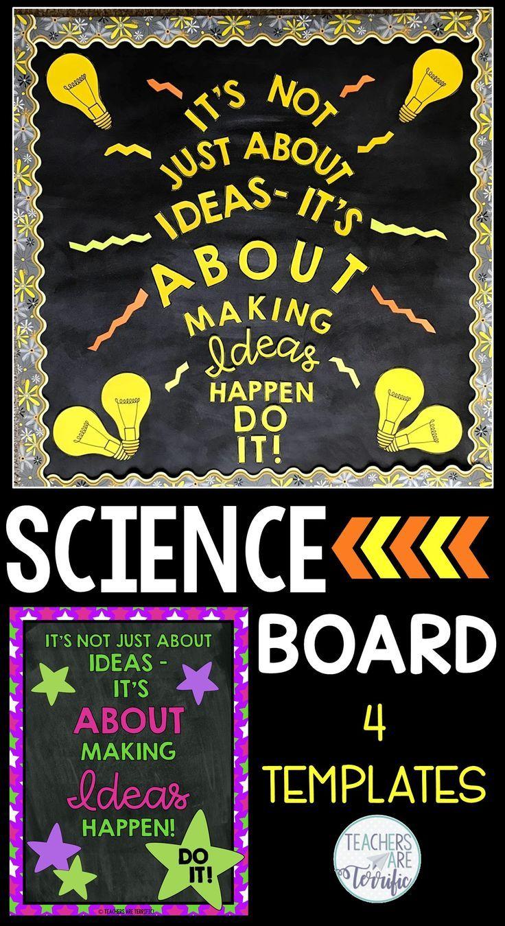 stem science bulletin board templates set 3 tpt pinterest