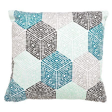 Elemis Cushion Diamond Geo Teal 43cm x 43cm