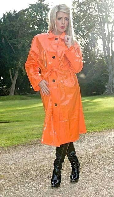 Orange PVC Raincoat