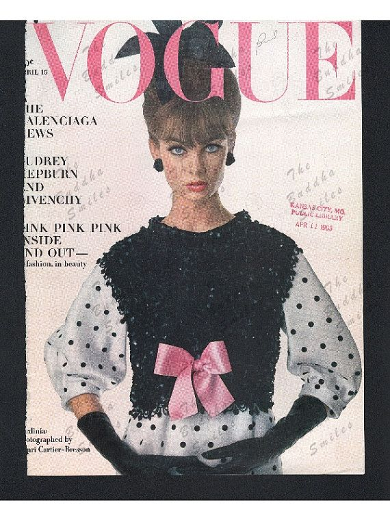 Original Vogue magazine cover April 15 1963  by TheBuddhaSmiles