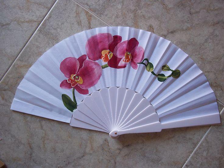 Pin by valentina vladimirova lambeva on abanicos pintados - Como pintar abanicos ...