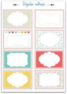 Etiquetas descargables gratis para personalizar,  Tags to download, Etiquette à télécharger. Más imprimibles en nuestro blog fdefifi.blogspot.com.es - Craft & Deco blog - #printable #imprimible #label