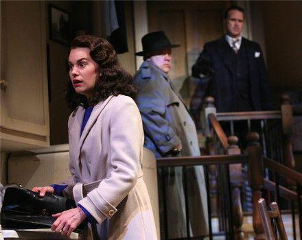 "Brooke Parks as Susan, Ted Koch as Roat and Craig Bockhorn as Carlino in Arizona Theatre Company's ""Wait Until Dark"" - #examinercom"