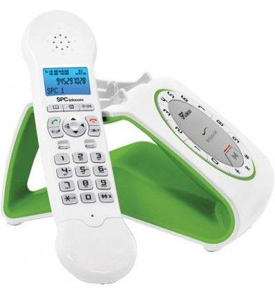 fijo dect Telefono inalambrico dect combo SPC Telecom 7704 verde S...
