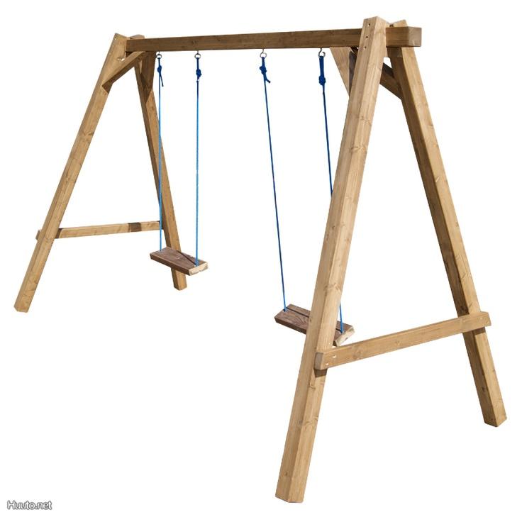 Puinen pihakeinu / Wooden swing   Lapsille / For kids ...